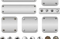 Vector Metal and Rivets Background 02