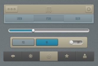 Brown Mobile App UI Kit PSD