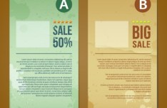 Creative Vector Sale Labels with Torn Paper Effect 03