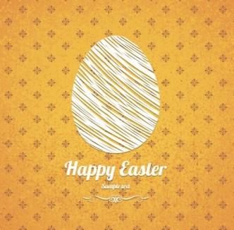 Elegant Vector Happy Easter Elements 06