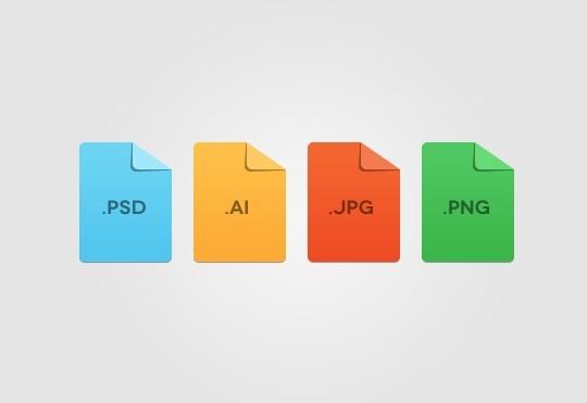 Free Flat Minimal File Format Icon Template PSD - TitanUI