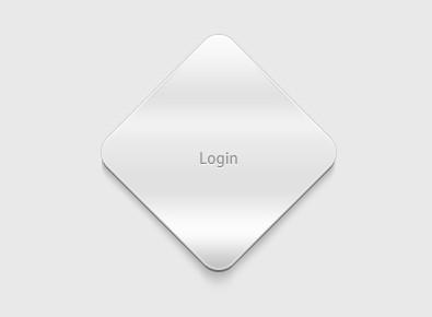 Grey Rhombus Login Button Template PSD