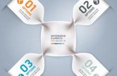Stylish Infographic Origami Numeric Label Elements 07