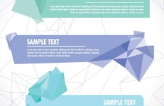 Creative Crystallized Origami Vector Banners