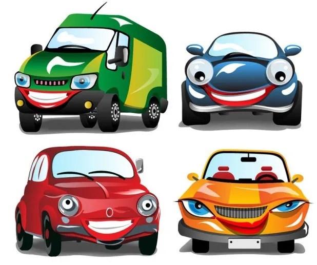 Cute Cartoon Cars Vector