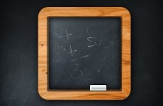 Rounded PSD Chalkboard Icon With Wooden Border