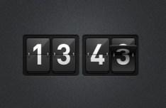 Sleek Scoreboard Like Time Clock PSD