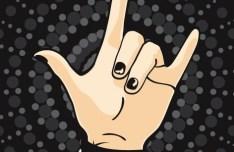 Vector Love Hand Symbolic Gesture