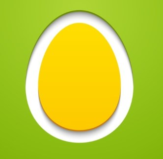 Vector Paper Shape Easter Egg Design 02