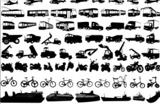 Vector Transportation Silhouettes Collection