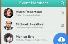 Event Members Interface PSD