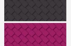 2 Black and Purple Tileable 3D Backgrounds Vector