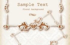 Clean and Elegant Vector Floral Frame 08