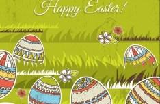 Colorful Easter Egg Background Vector 05