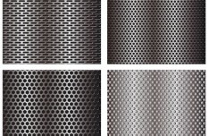 Vector Glossy Pierced Steel Metal Background 01