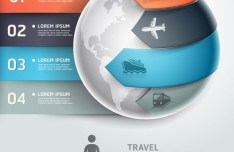 Vector Infographic Option Data Elements 03