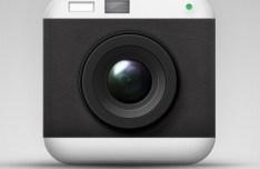 Elegant Camera App Icon PSD