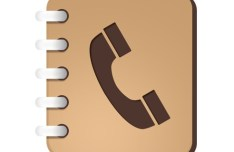 Brown Notebook-Like Phone Book PSD Icon