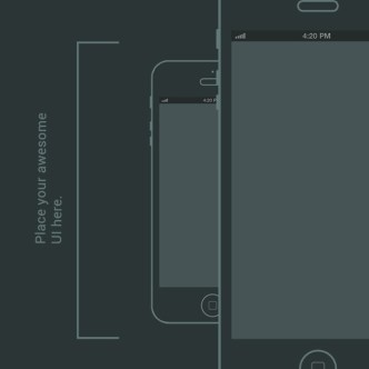 Simple iPhone 5 Wireframe
