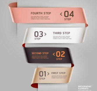 Vector Infographic Step By Step Elements 04