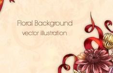 Elegant Colorful Spring Flower Background 02
