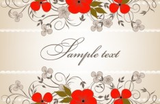 Simple and Elegant Flower Vector Background 02