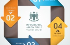 Vector Infographic Arrow Circle Elements 04