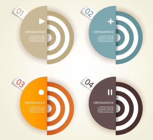 Creative Infographic Data Display Elements Vector 01