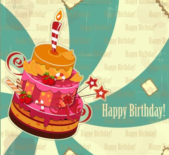 Vintage Happy Birthday Elements Vector
