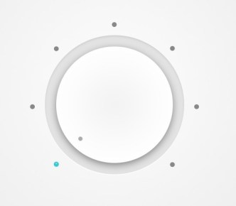 Flat Grey Dial Button PSD