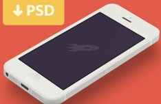 Minimal PSD iPhone 5 Template