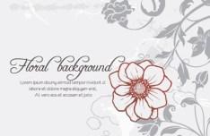 Primitive Simplicity Spring Flower Background Vector 01