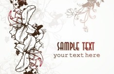 Primitive Simplicity Spring Flower Background Vector 03