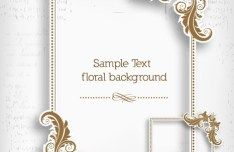 Simple and Clean Vector Floral Border and Frame 01