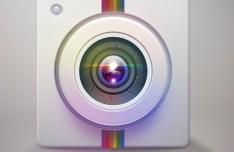 Colored Camera Lens Icon PSD