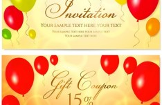 Golden Gift Coupon Cards Vector 02