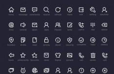 Minimal White Web Icon Set PSD