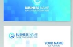 Vector Vertical Business Card Set 04