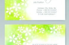 Vector Vertical Business Card Set 05