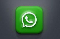 White Dial App Icon with Green Background PSD