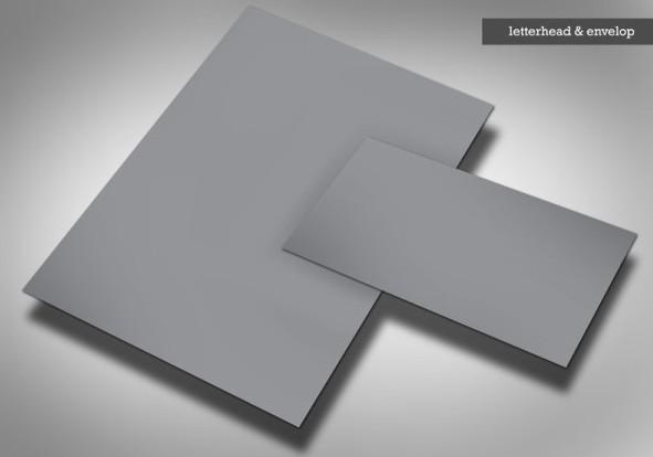 PSD Letterhead and Envelop Mockup