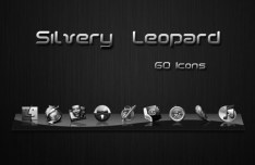 60+ Silvery Leopard Icon Pack