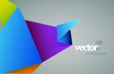 Colorful Abstract Origami Background Vector