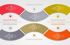 Vector Infographic Step Option Circle Elements 04
