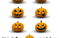 Cartoon Happy Halloween Scary Elements Vector 02