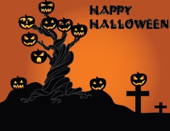 Cartoon Happy Halloween Scary Elements Vector 08