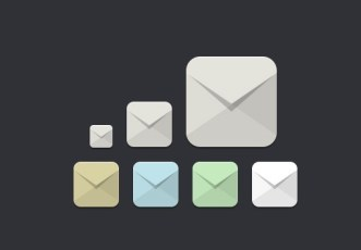 Flat Email Icon Set PSD