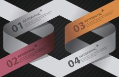 Creative Vector Origami Option Label For Infographic 03