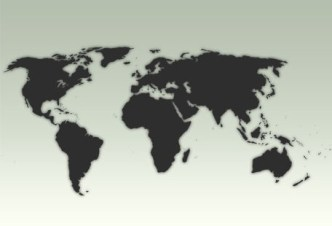 Simple Dark World Map PSD