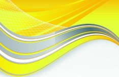 Vector Trendy Abstract Background with Wavy Curves 02